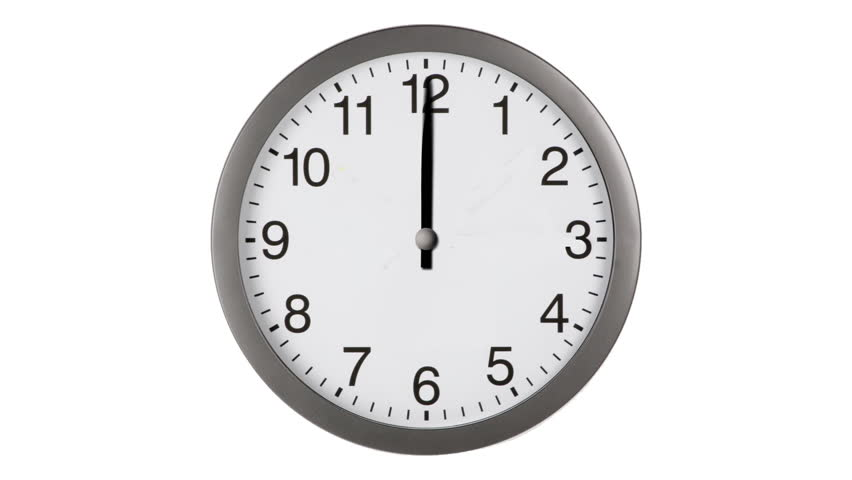 Animated clock counting down 12 hours over 30 seconds. Seamlessly loops. Time lapse. | Shutterstock HD Video #2577593