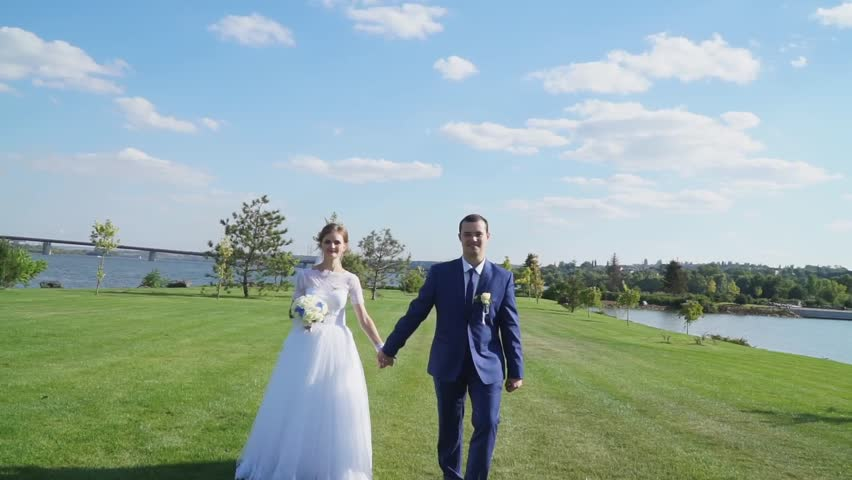 Awesome The Bride And Groom Running Stock Footage Video 100 Royalty Free 25795346 Shutterstock Download Free Architecture Designs Scobabritishbridgeorg