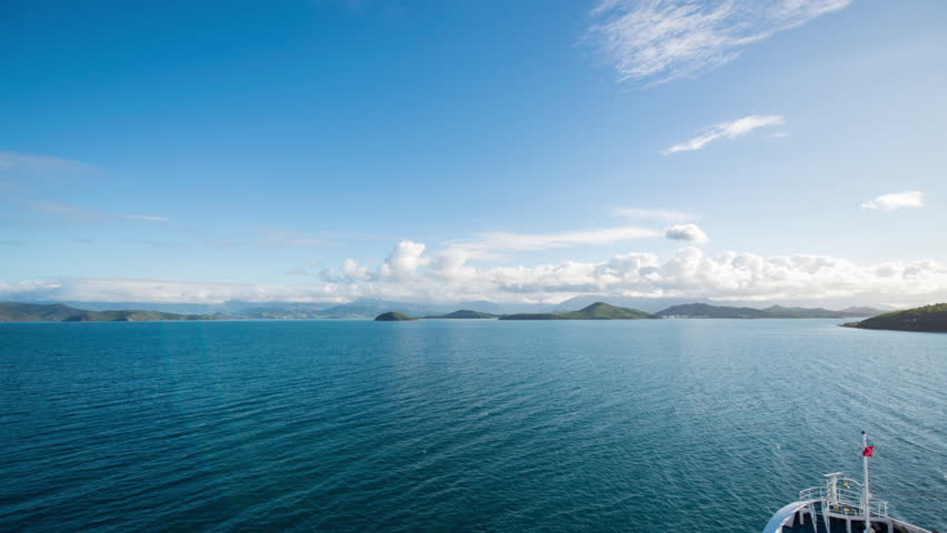 Arrival into Tropical Noumea by Boat (PAL)