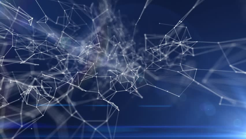 Plexus abstract technology and engineering background with original organic motion | Shutterstock HD Video #25825763