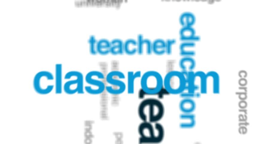 Teaching animated word cloud, text design animation.   Shutterstock HD Video #25847906