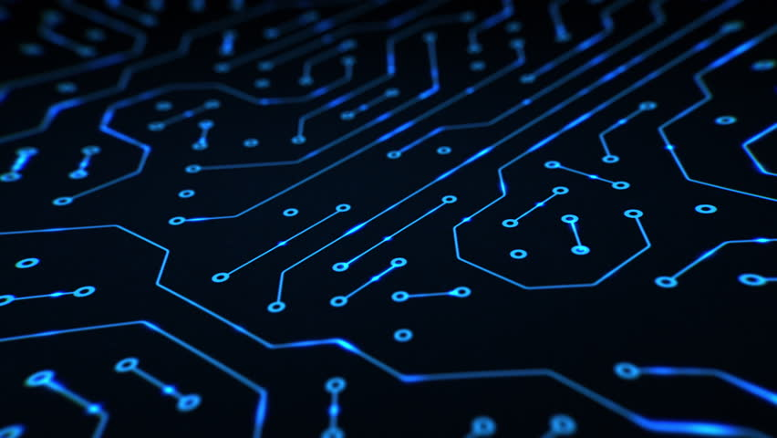 Abstract Circuit Board Background By Silvertiger: Animated Printed Circuit Board Background. Stock Footage