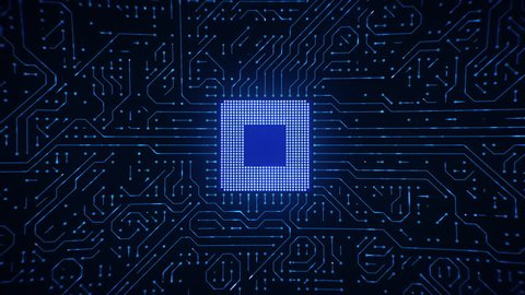 Microchip CPU Processor Turning On