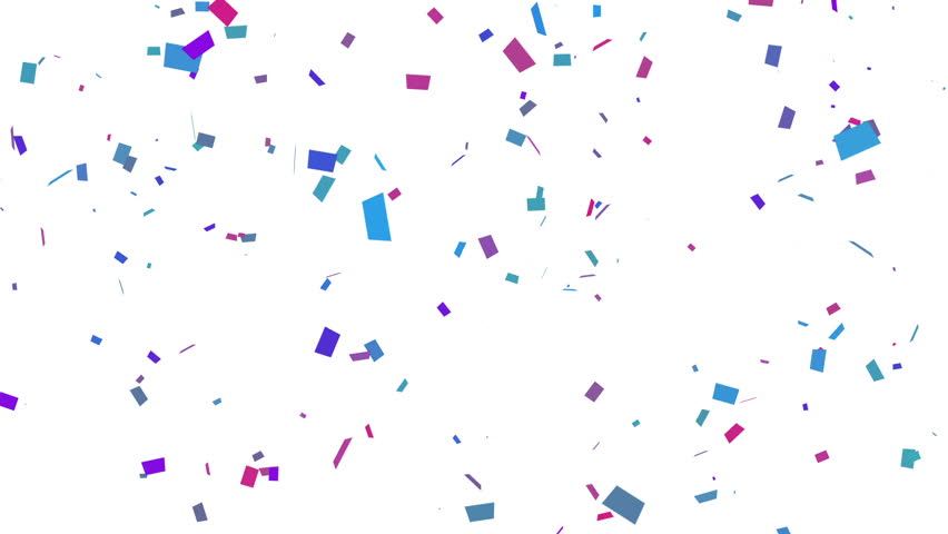 Confetti Falling With Matte. Loop.