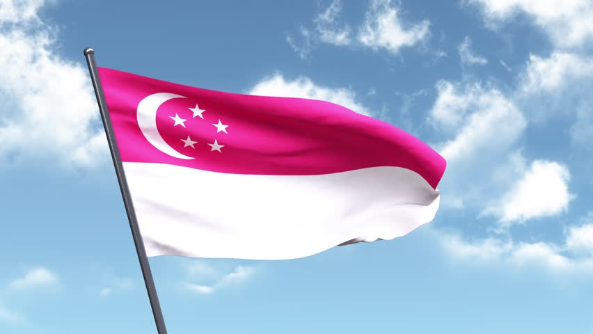 3D Animated Flag of Singapore