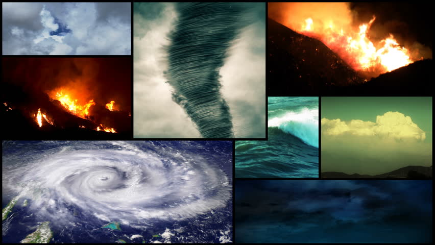 Stock Video Of Severe Weather And Disaster Montage