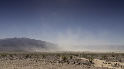 Desert Wind storm - Time Lapse - Death Valley