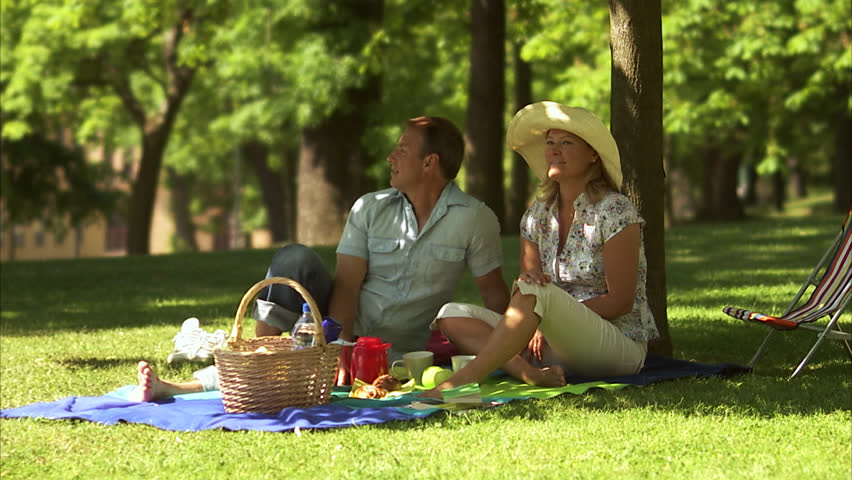 Couple having a picnic outdoors | Shutterstock HD Video #2594276