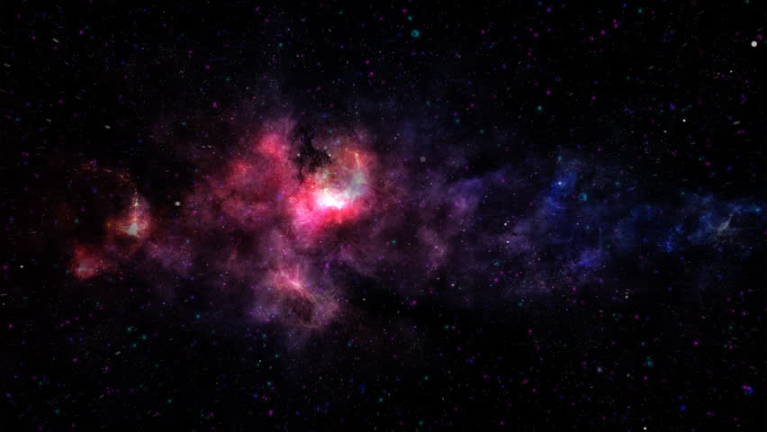 Nebulae and interstellar cloud with purple star clusters for a deep fantasy space hd stock video clip voltagebd Gallery