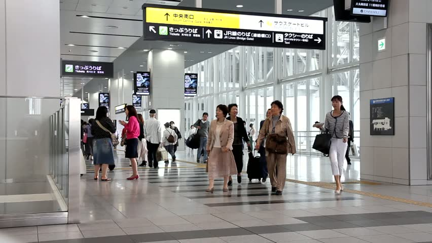 OSAKA, JAPAN - APRIL 27: People hurry at Osaka Station on April 27, 2012 in Osaka, Japan. It is the 3rd busiest station in the world serving average 2.4 million passengers daily.