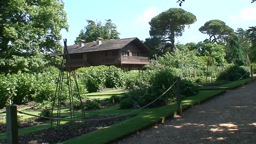 Swiss Cottage - the royal playhouse of the children of Queen Victoria situated in Osbourne House, Isle of Wight, England