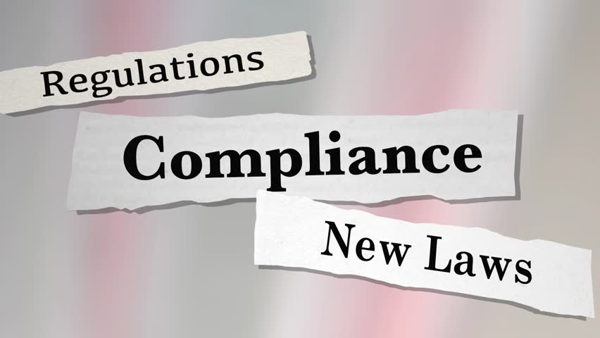 Compliance Regulations Laws Rules News Headlines 3d Animation
