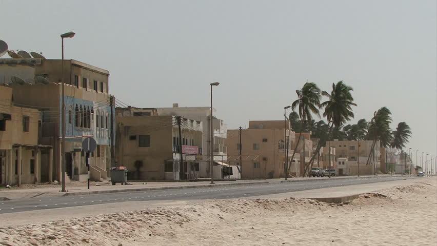 Street on a beach in Salalah, Oman