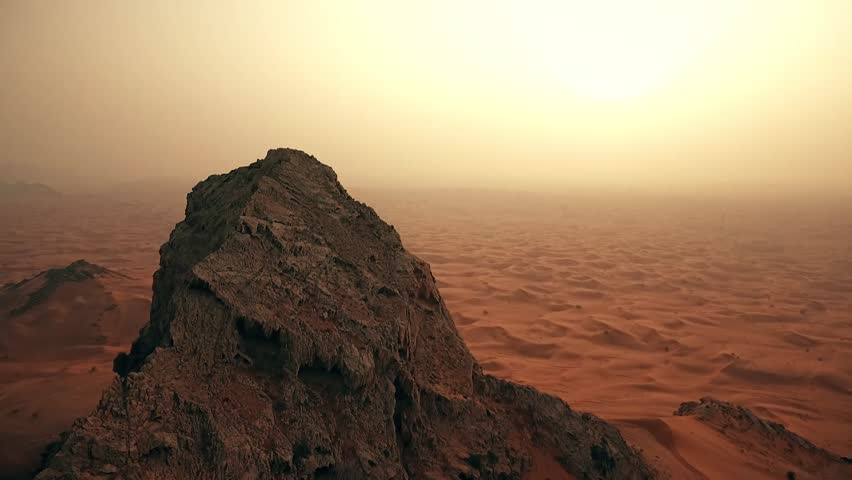 Cinematic mountain in Dubai desert  | Shutterstock HD Video #26079536