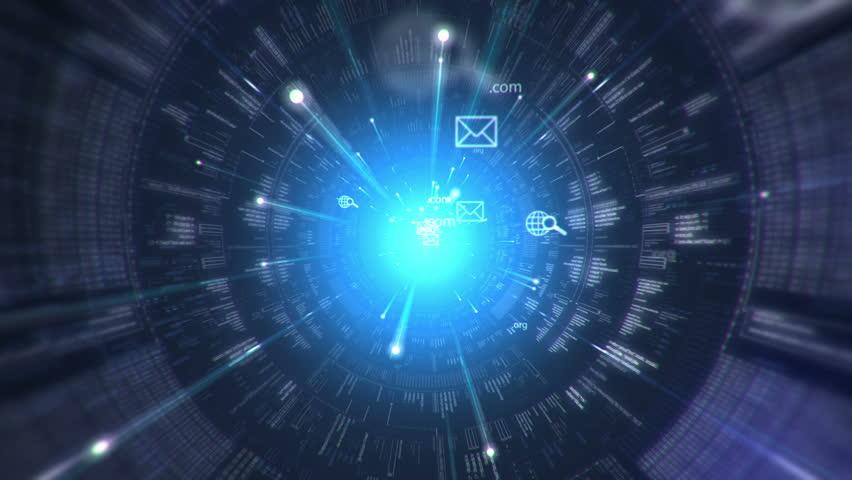 Digital tunnel. Internet. Technology background.   Shutterstock HD Video #2612870