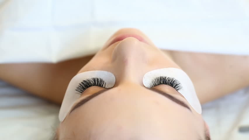 Eyelash Extension Procedure Woman Eye Stock Footage Video 100