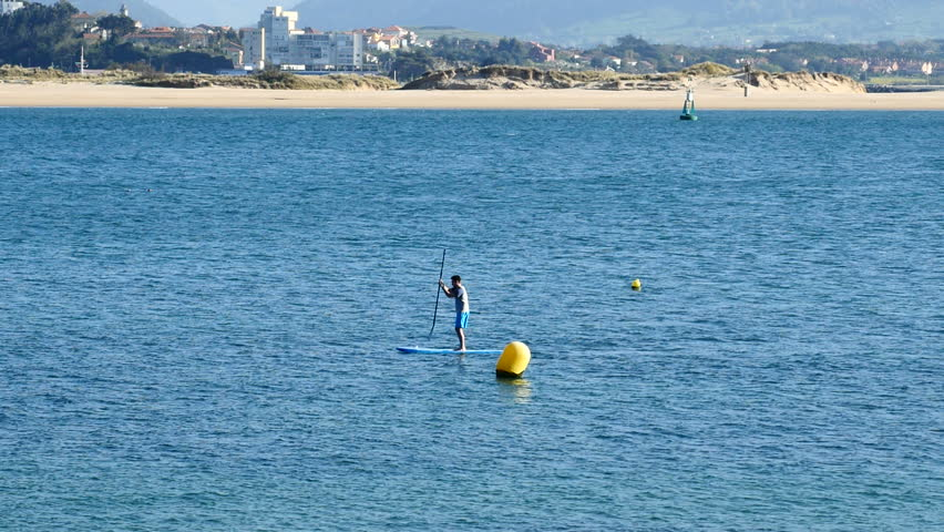 Paddle Surf On A Beach Stock Footage Video 100 Royalty Free 26193686 Shutterstock