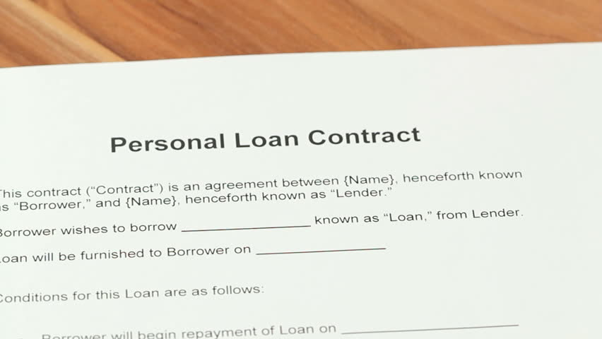 Loan Application - Woman Going Over A Personal Loan Contract And ...