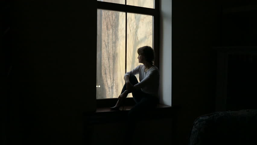 Resultado de imagem para sad girl at window