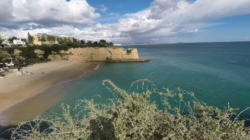 senhora de la rocha beach at portugals algarve coast