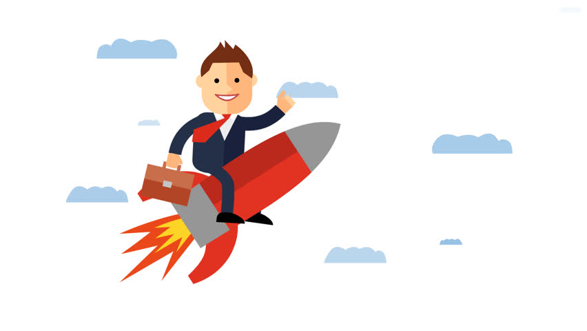 Rocket Ship Business/Finance Stock Footage Video