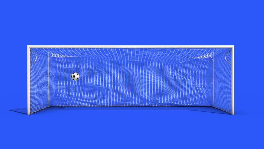 GOAL Soccer Net Dynamic Collision Simulation cam2 Blue Screen 3D Rendering Animation | Shutterstock HD Video #26358776