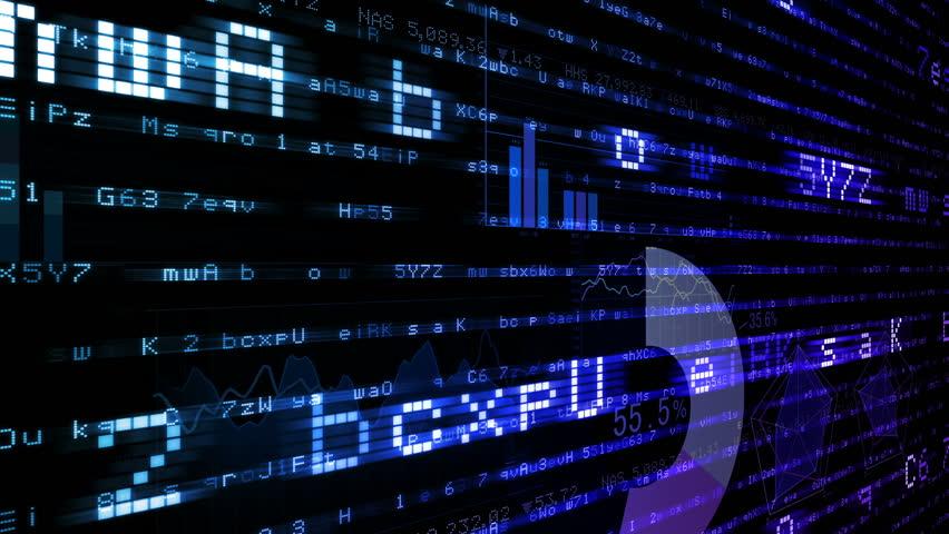 Business data graph digital world space number text.   Shutterstock HD Video #26364146