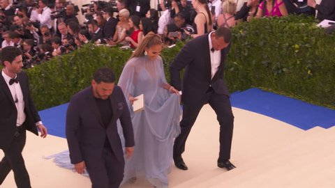Metropolitan Museum of Art, New York, USA - 01 May 2017 - Jennifer Lopez & Alex Rodriguez at The Costume Institute Benefit Gala celebrating Rei Kawakubo / Comme des Garcons: Art of the In-Between