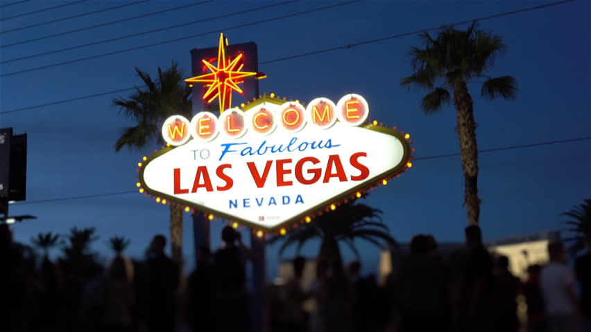 High quality video of welcome to fabulous Las Vegas Sign at night | Shutterstock HD Video #26402186
