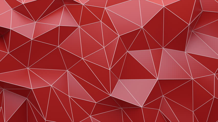 Abstract Triangle Red Background Random Motion, 3d Loopable Animation 4k   Shutterstock HD Video #26442866