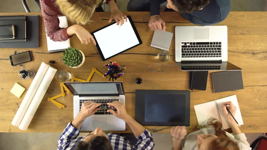group of diverse people working together on startup