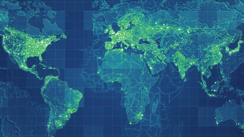 Blue global maps network rollback animated world map with grid green global maps network rollback animated world map with grid connections between main directions gumiabroncs Image collections