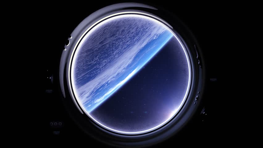 Earth as seen through window of International Space Station. International space station is orbiting the Earth. ISS, Space, earth, orbit, ISS, Elements furnished by NASA. | Shutterstock HD Video #26555936