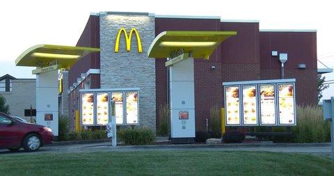 August 9, 2016, Bettendorf, Iowa, McDonalds Drive Thru - Dusk