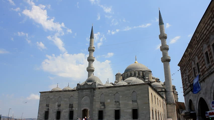 ISTANBUL, TURKEY - 25 July 2012: The Yeni Cami (The New Mosque) is an Ottoman imperial mosque located in the Eminönü district of Istanbul, Turkey.