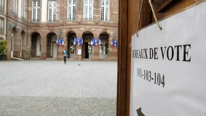 Strasbourg France May   French City Hall Single Father Exit Vote