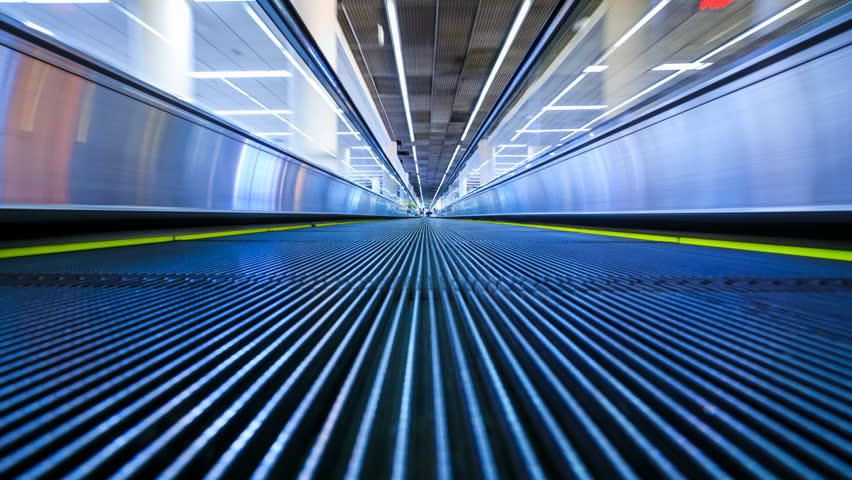 4K Motion blur timelapse of moving escalator in the airport  | Shutterstock HD Video #26587766