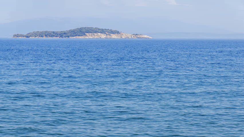 Sea view nature background and sea surface with blue sky clean ripple water