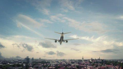 Airplane Landing Tallin Estonia new