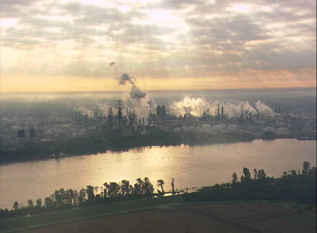 Industrial area along the MIssissippi River at Baton Rouge, Louisiana | Shutterstock HD Video #26652016