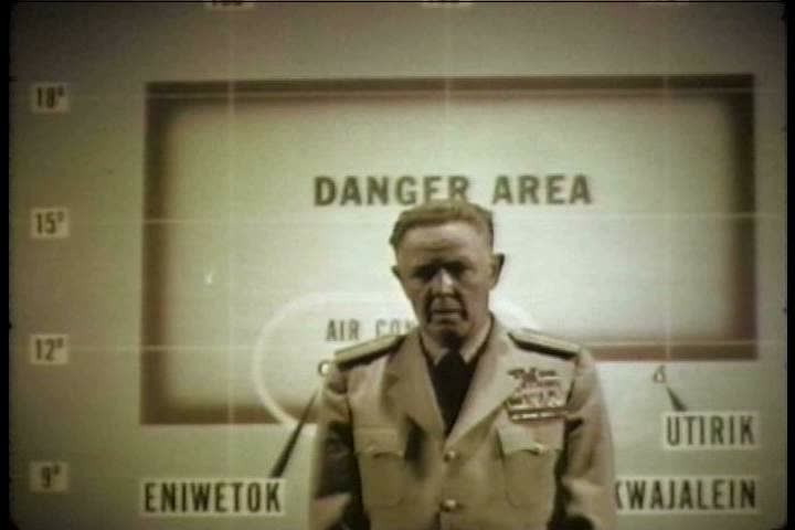 1930s: Rear Admiral Hanlen discusses the importance of press and media in Operation Redwing, in 1956.   Shutterstock HD Video #26657056