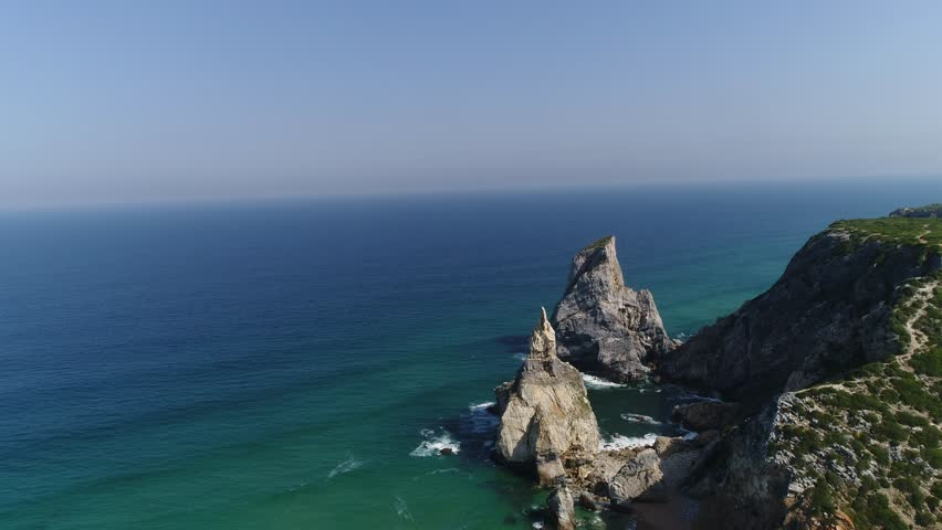 Beach of Ursa, Sintra, Portugal. Aerial View made by professional drone | Shutterstock HD Video #26666779
