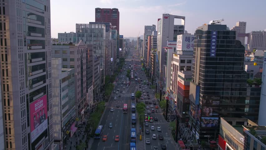 Aerial Korea Seoul April 2017 Gangnam Sunny Day   Shutterstock HD Video #26698156