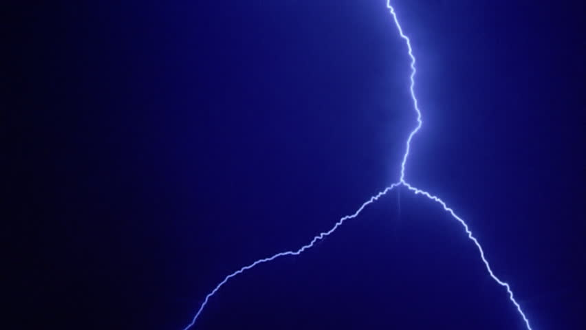 Blue lightning effects forking from top of black frame | Shutterstock HD Video #26704816