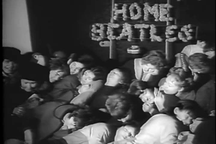 1960s: The Beatles return to London Airport on February 22nd, 1964, with comedic narration.