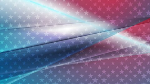 USA colors abstract bright motion design. Independence Day clip. Video animation Ultra HD 4K 3840x2160