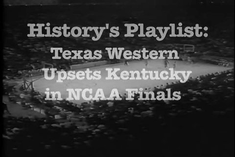 1960s: Texas Western's integrated basketball team beats Kentucky in this game from 1966.
