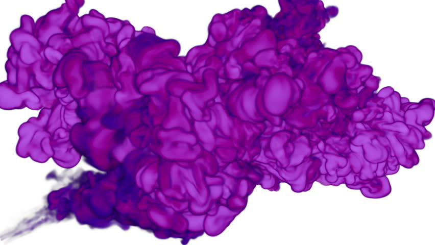 Abstract background of beautiful violet Ink clouds or smoke move in slow motion VFX with luma matte that very easy to use. Version 9 #26744326