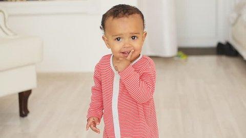 Happy Mixed Race Baby Boy