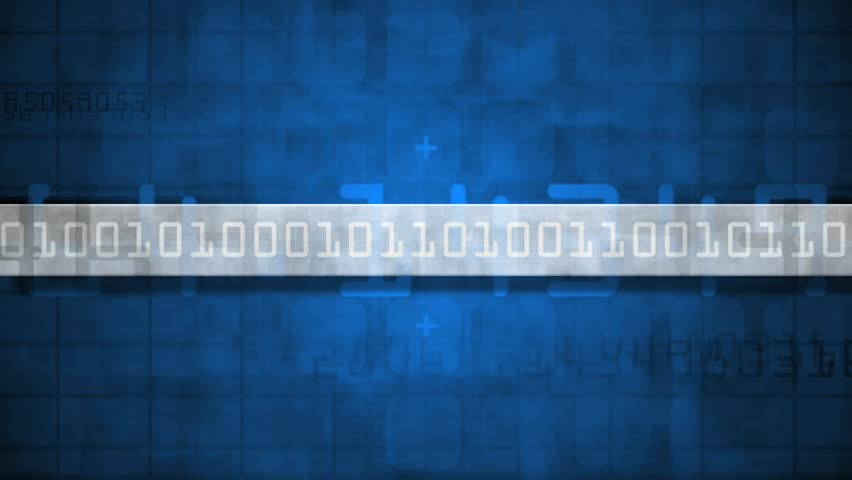Abstract CGI motion graphics and animated background with blue binary numbers | Shutterstock HD Video #2677226